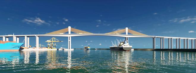 Phối cảnh Cầu Phước An nối Cảng Phú Mỹ với TP Nhơn Trạch