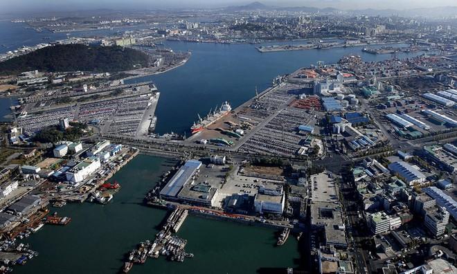 Một góc cảng biển tại TP Incheon