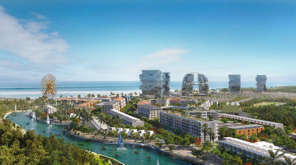 Phối cảnh tổng thể khu nghĩ dưỡng Venezia Beach - Luxury Residences & Resort