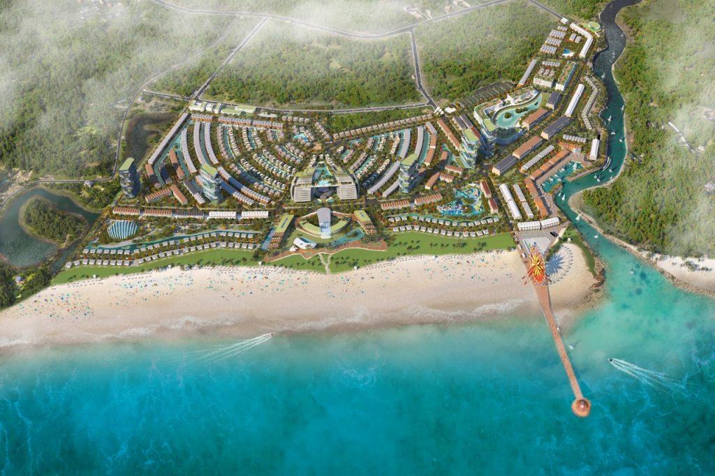 Mặt bằng tổng thể khu dự án Nghĩ Dưỡng Venezia Beach - Luxury Residences & Resort