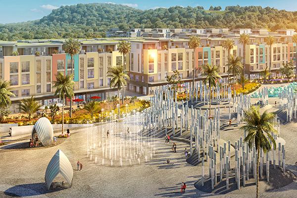 OCEAN PARK Khu nghệ thuật tương tác Interactive Art, quảng trường nhạc nước, đường dạo bộ triển lãm nghệ thuật, công viên hoa,…