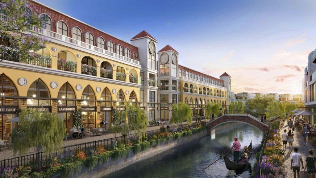 Phối cảnh căn shophouse Venezia Beach - Luxury Residences & Resort